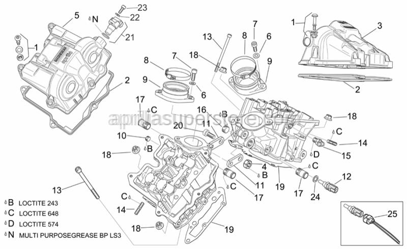 Aprilia - Hex socket screw M10x40