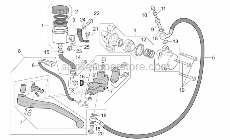 Aprilia - Clutch pipe