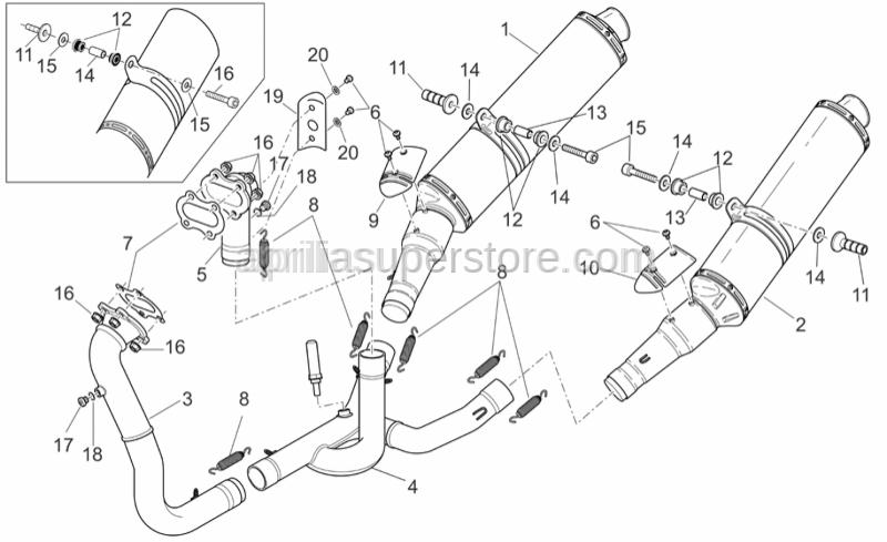 Aprilia - Hex socket screw m4x6 inox