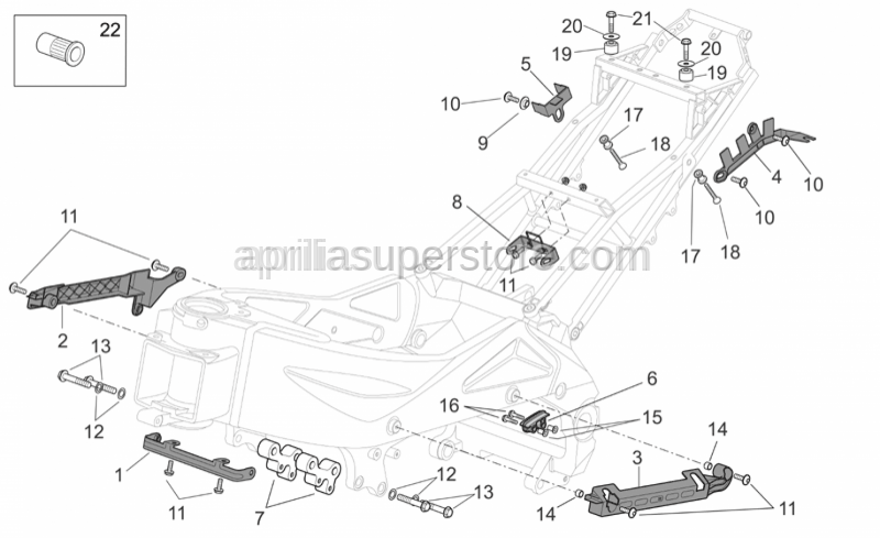 Aprilia - Eng. connecting spacer