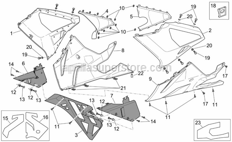 Aprilia - Rubber w/ insert M4