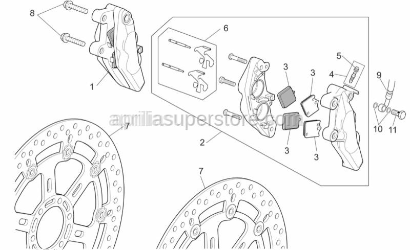 Aprilia - Pin+Brake spring