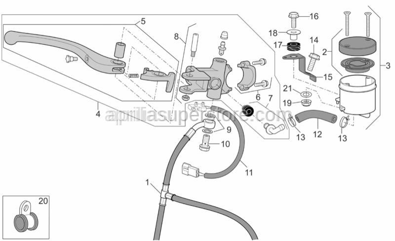 Aprilia - Stainless cap nut M6