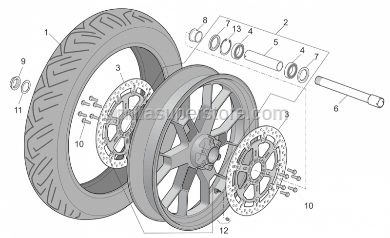 Aprilia - Tubeless tyre valve 90