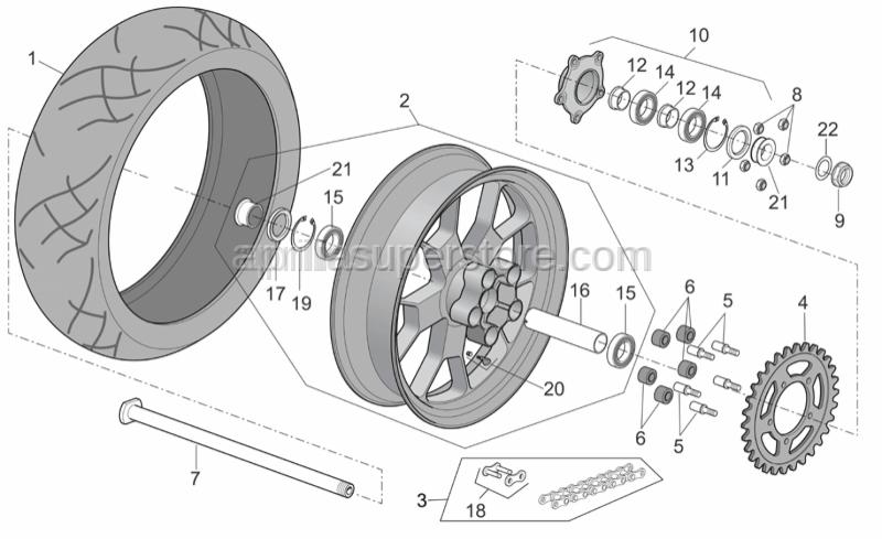 Aprilia - Chain ring
