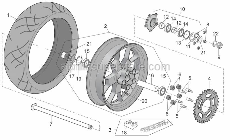 Aprilia - Gasket ring 38x55x7