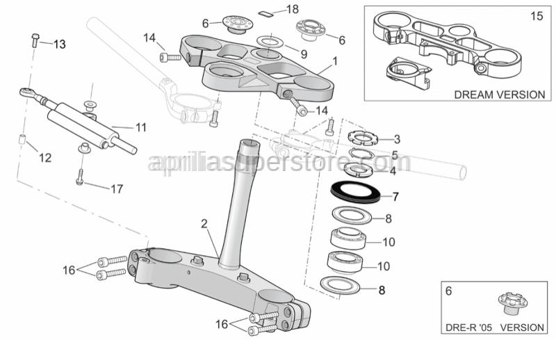 Aprilia - Fork upper plate