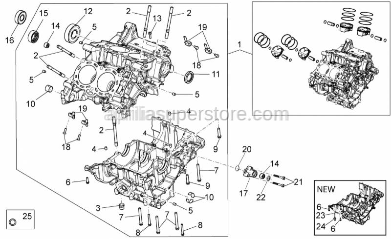 Aprilia - Needle bearing HK1512