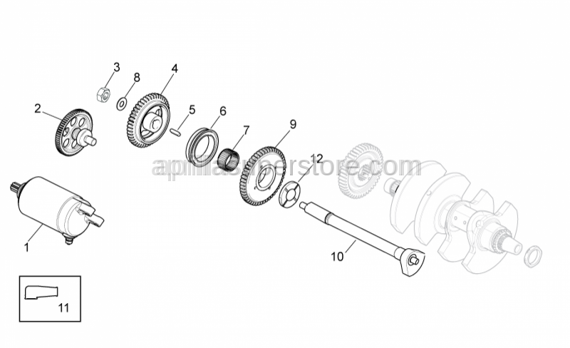 Aprilia - COUNTERSHAFT