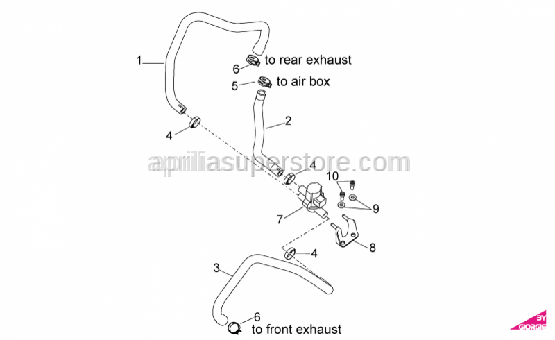 Aprilia - AIRBOX AIR INDUCTION SYSTEM PIPE