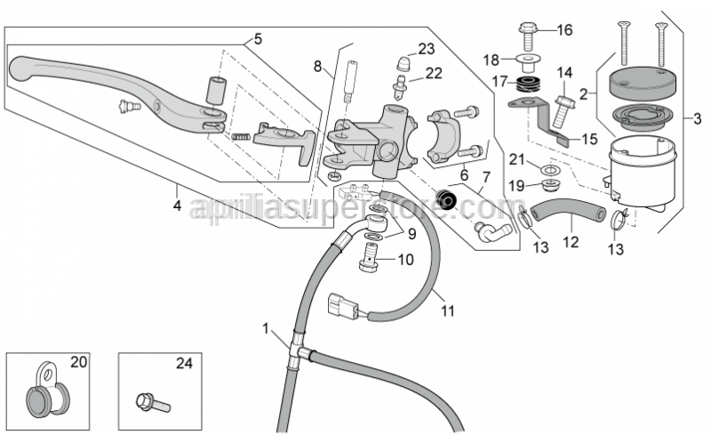 Aprilia - Hose clamp D10,1*