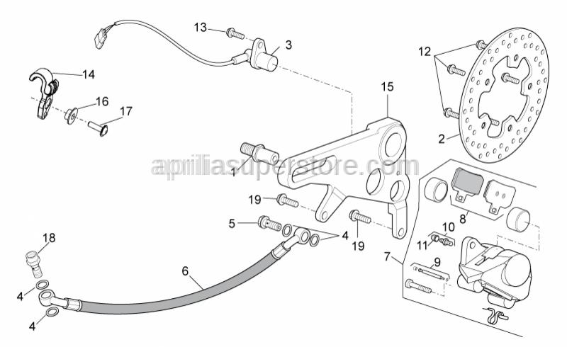 Aprilia - Speedometer sensor cpl.