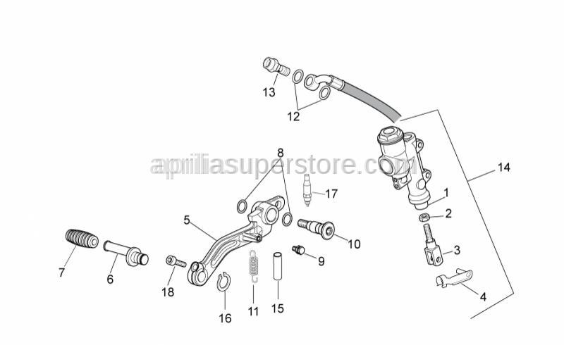Aprilia - Rear brake lever