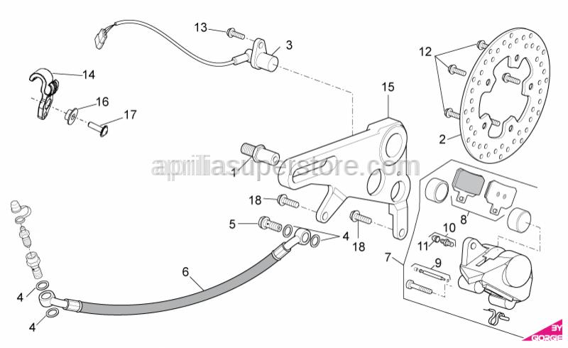 Aprilia - Brake hanger plate