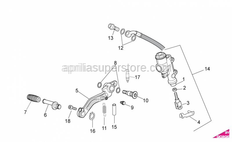 Aprilia - Oil pipe screw