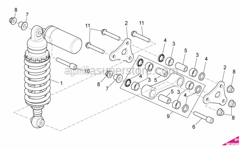 Aprilia - Hex socket screw M10x72