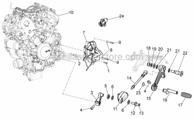 Aprilia - Gear change lever