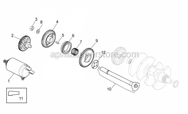 Aprilia - Flanged nut M10x1