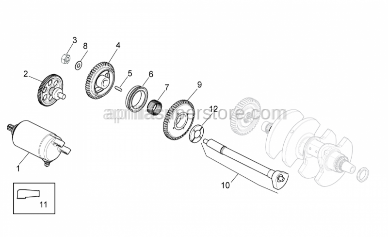 Aprilia - Balance shaft Gear Z=44