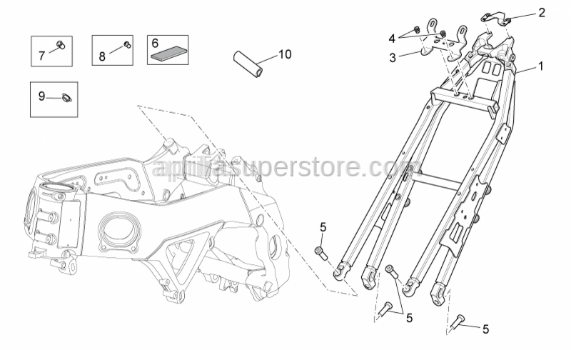 Aprilia - Headlight support clamp