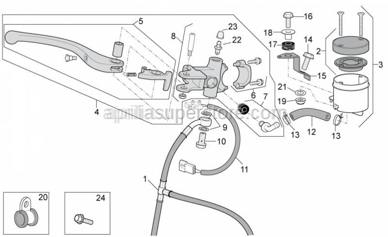 Aprilia - Front master cilinder