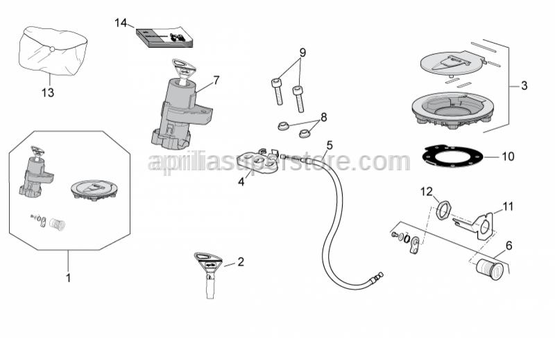 Aprilia - Lock kit