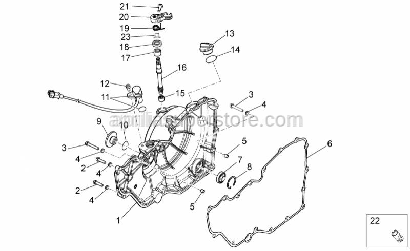 Aprilia - Screw w/ flange M6x20