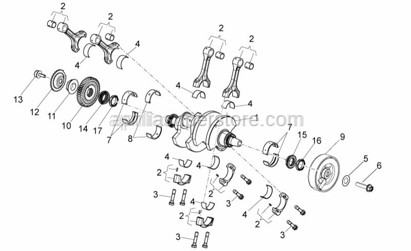 Aprilia - Special screw M8x24