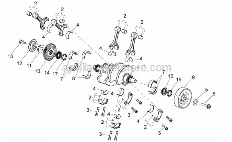 Aprilia - Timing gear