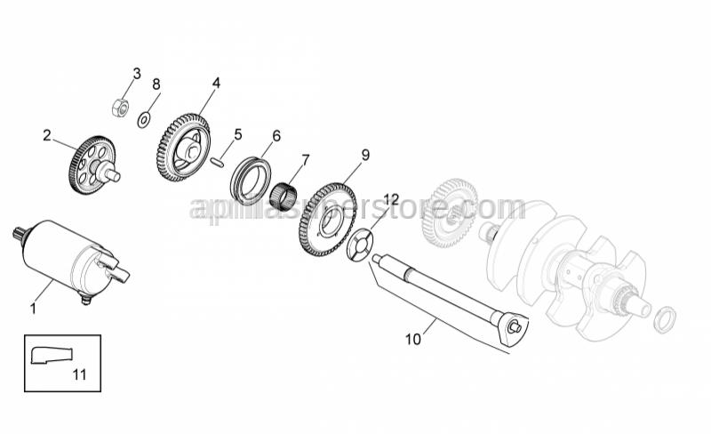 Aprilia - Electric starter gear Z=12/64