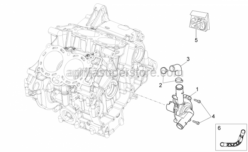 Aprilia - Water pump protection