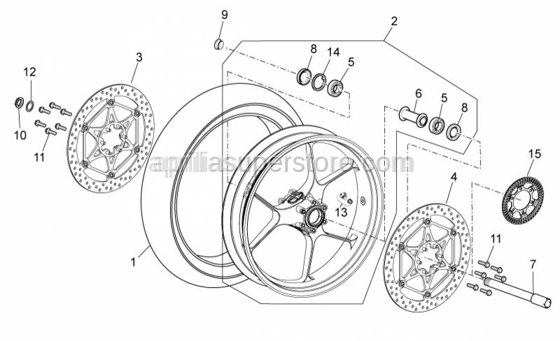 Aprilia - Front/rear tyre 120/70-17 Pirelli