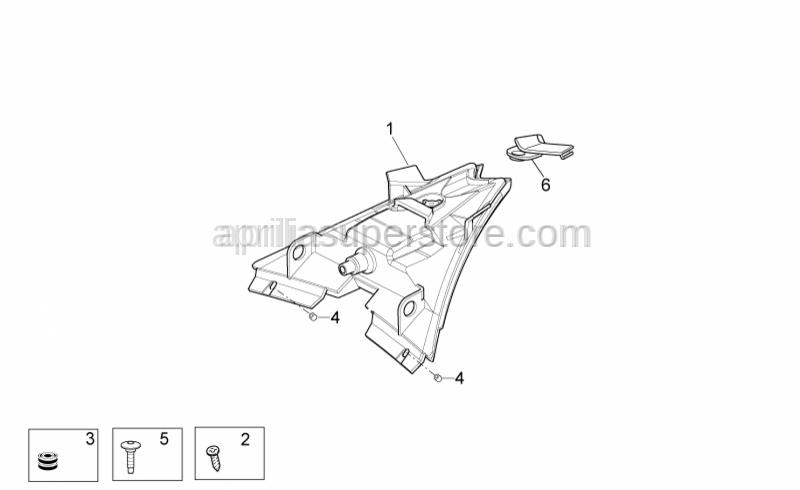 Aprilia - Self-tapping screw *
