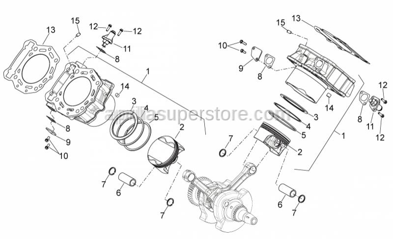 Aprilia - Piston catA 91,933-91,940