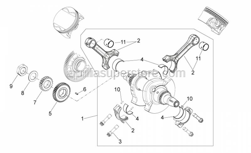 Aprilia - Primary drive gear catB