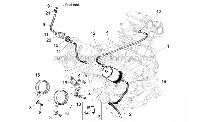 Aprilia - Hose clamp d.76