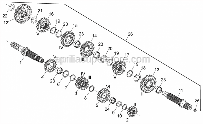 Aprilia - 1st wheel gear Z=36