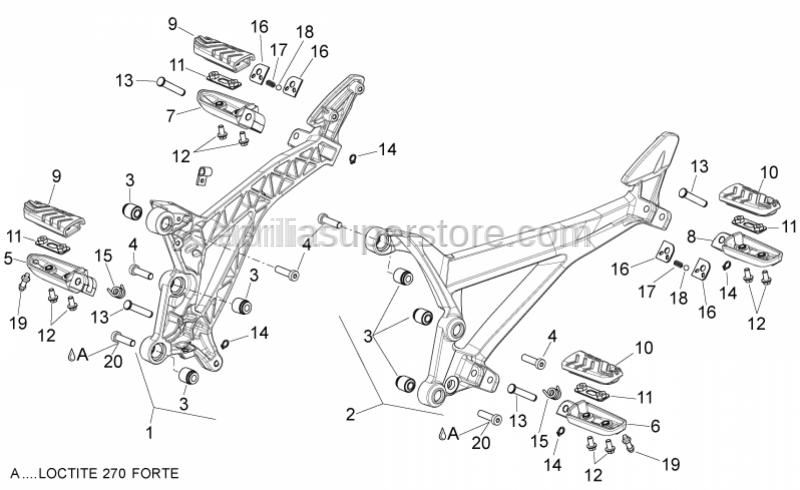 Aprilia - Low head socket screw