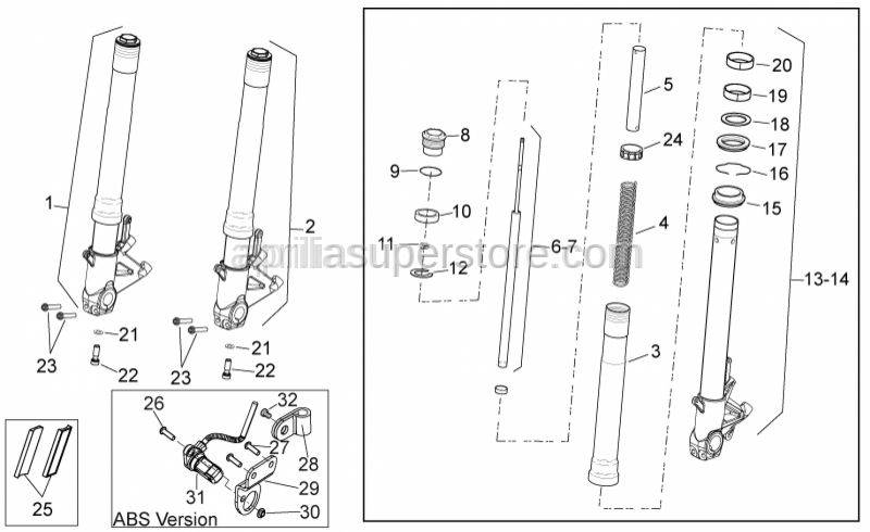 Aprilia - Screw w/ flange M8x40