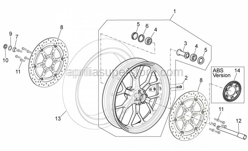 Aprilia - Front tyre 120/70 ZR 17