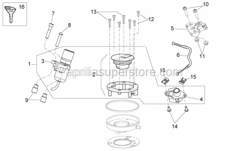 Aprilia - Hex socket screw M5x30