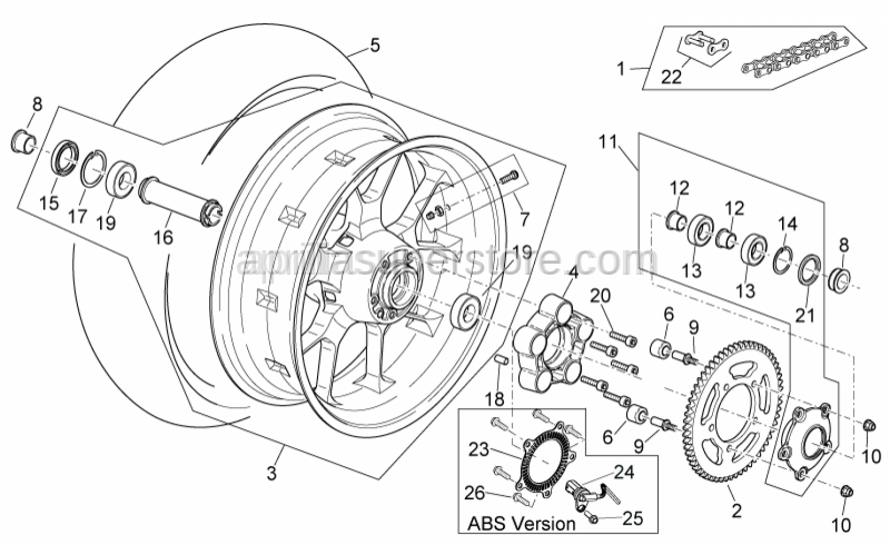 Aprilia - Rear Speedometer encoder