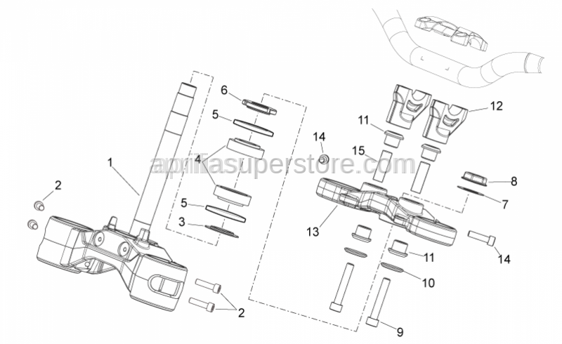 Aprilia - Stem plug washer