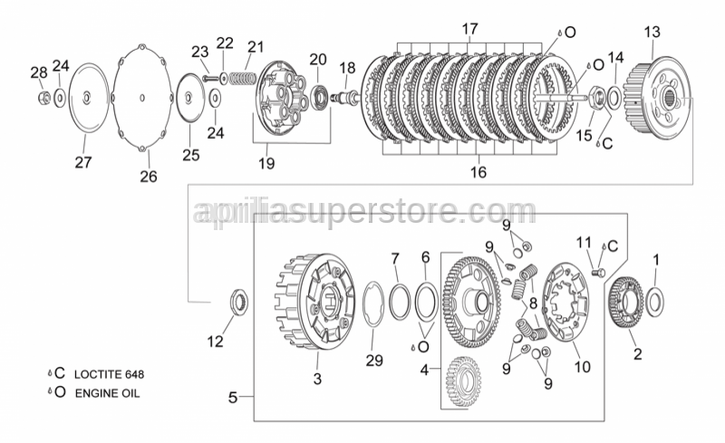 Aprilia - Oil pump gear z=42