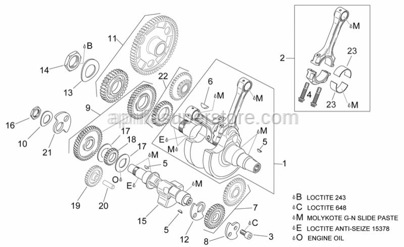 Aprilia - Balance shaft gear cpl.