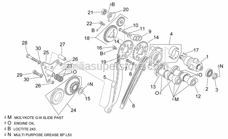 Aprilia - Hex screw