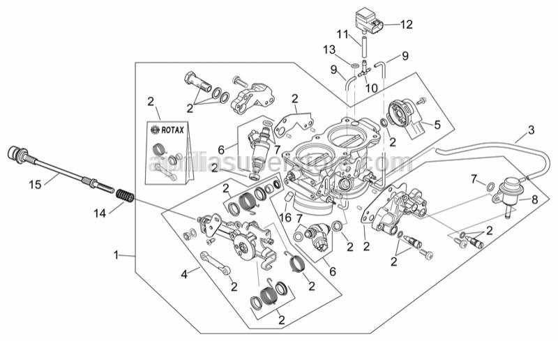 Aprilia - Throttle body revision kit