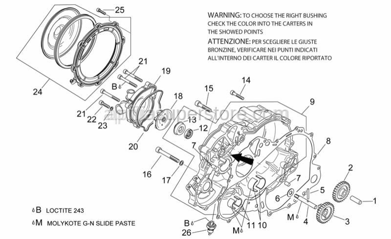 Aprilia - Hex socket screw M8x40