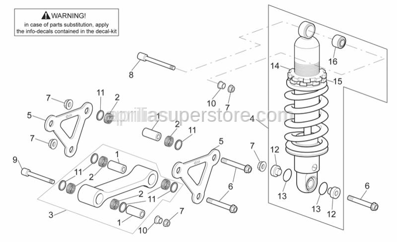 Aprilia - Screw w/ flange M10x65