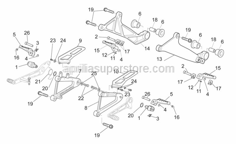 Aprilia - Hex screw M8x30